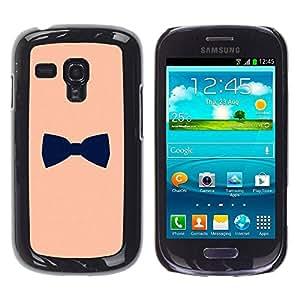 TopCaseStore / la caja del caucho duro de la cubierta de protección de la piel - Black Gentleman Design - Samsung Galaxy S3 MINI NOT REGULAR! I8190 I8190N