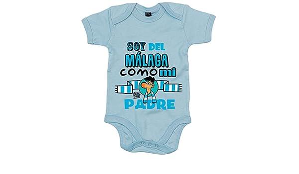Body bebé soy del Málaga como mi padre Jorge Crespo Cano - Celeste, 12-18 meses: Amazon.es: Bebé