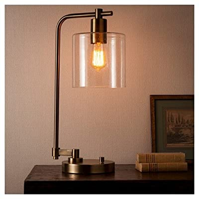 Hudson Industrial Table Lamp - Antique Brass - ThresholdTM