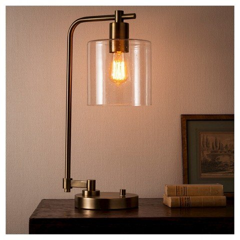 Hudson Industrial Table Lamp - Antique Brass - Threshold&#15