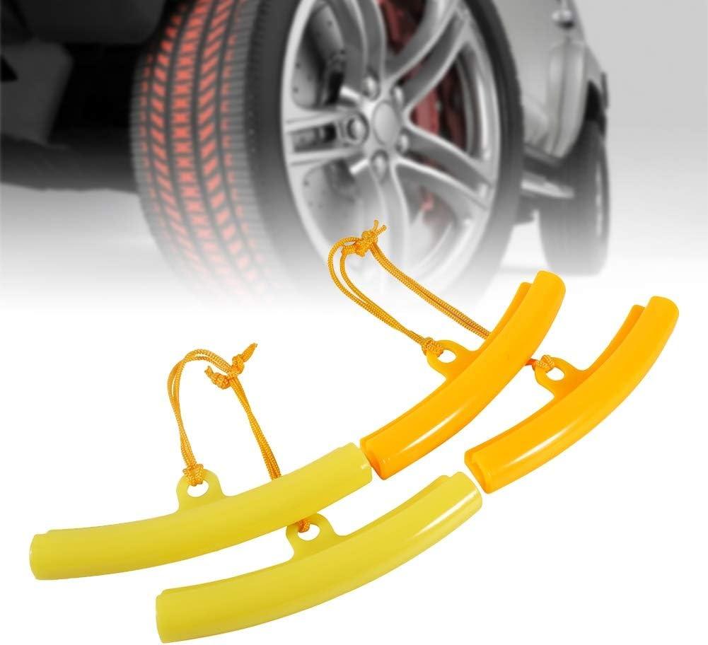 Color : Yellow Protector de Cambiador de Neum/áticos de Coche Protectores de Llanta Herramienta de Ahorro de Bordes de Rueda de Neum/ático 5PCS