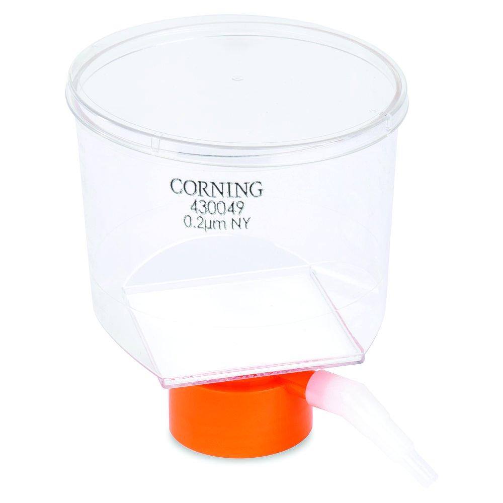 Corning #430049, 500mL Bottle Top Vacuum Filter, 0.2µm Pore 33.2cm² Nylon Membrane, Fits 45mm Diameter Necks, Sterile (Single)