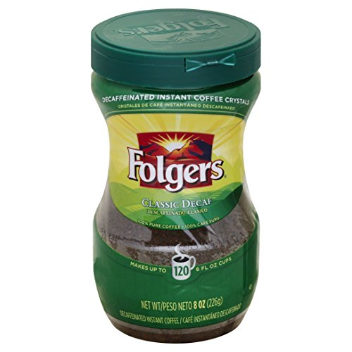 (Folgers Classic Decaf Instant Coffee Crystals, 8 oz)