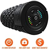 VIBRA Vibrating Foam Roller - Next Generation Electric Foam Roller with 5 Speeds Settings | Includes Carry Case & Vibration Foam Rolling Training (Black)