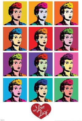 I Love Lucy Pop Art TV Poster Print