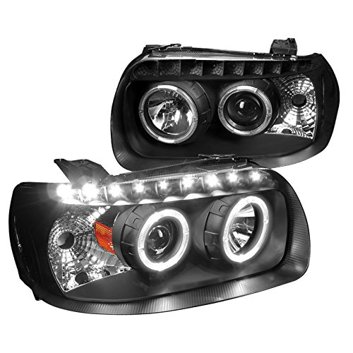 Hybrid Ford Escape Limited (Spec-D Tuning 2LHP-ECAP05JM-RS Ford Escape Black Dual Halo SMD LED Strip DRL Projector Headlights)