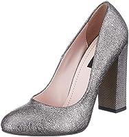 Kuum Kadın Platin Gova Kapalı Burun Ayakkabı, Platin, 38 Numara
