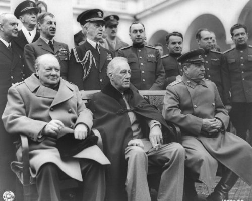 New 8x10 World War II Photo: Roosevelt, Stalin & Churchill