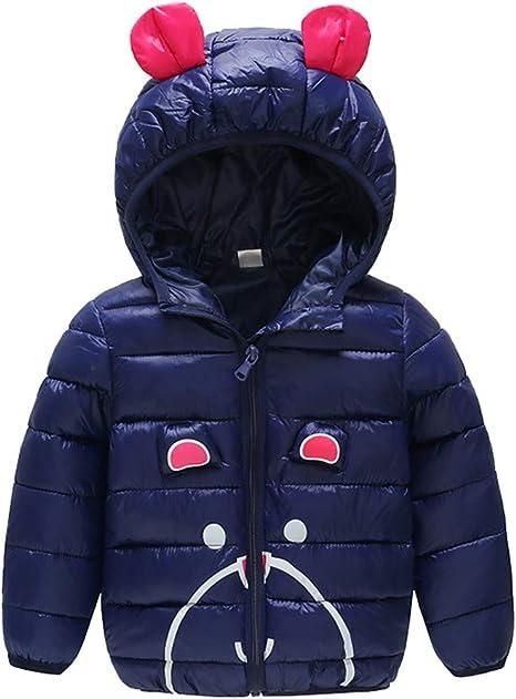 Toddler Kids Girl Winter Coat Jacket Zip Thick Warm Solid Hoodie Outerwear Cloak