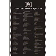 101 Greatest Movie Quotes List Art Poster Print - 24x36