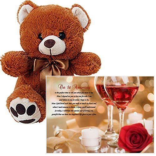1st Anniversary Gift - Love Poem and Bear for a First Ann...