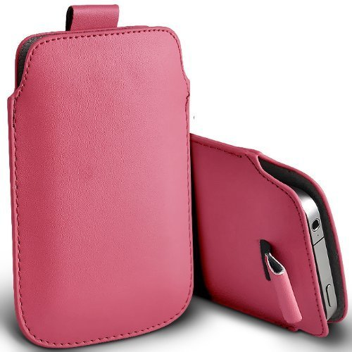 C63 – Apple iPhone 5S Premium morbido PU Tab custodia flip – rosa chiaro