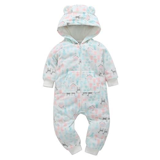 3e4694df9 Amazon.com  Kintaz Baby Boys Girls Winter Thicker Deer Print Hooded ...