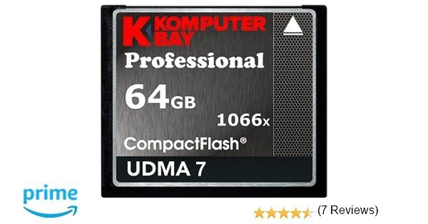 Komputerbay Professional - Memoria Compact Flash de 64 GB (udma 7, 1066x), Negro