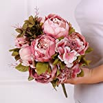 Leagel-Fake-Flowers-Vintage-Artificial-Peony-Silk-Flowers-Bouquet-Wedding-Home-Decoration-Pack-of-1-Sweetened-Bean