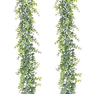 Artiflr 4 Pack Artificial Wall Hanging Plants Artificial Ivy Fake Hanging Vine Plants Decor Plastic Greenery for Home Wall Indoor Outdside 3