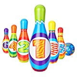 Fansport Bowling Game Set Includes 6PCS Bowling Pin with Bowling Ball for Children