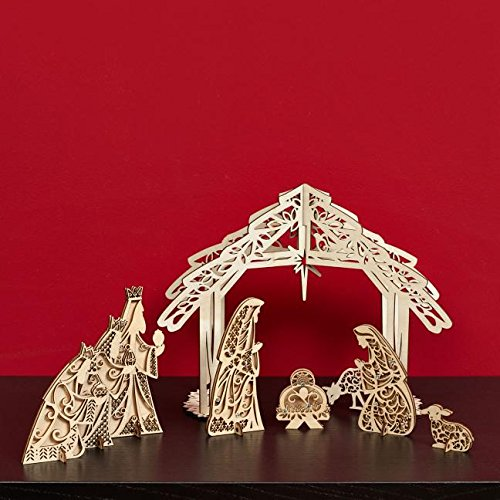 Enesco Flourish Interactive Nativity, 8.5-Inch