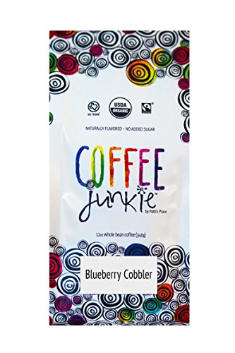Coffee Junkie Blueberry Cobbler Naturally Flavored Coffee Beans - 12 oz (Caffeinated, 12 oz)