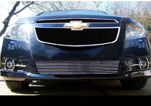 MaxMate 11-13 Chevy Cruze LTZ/LT RS package And Turbo Only Bolton Lower Bumper 1PC Horizontal Billet Polished Aluminum Grille Grill Insert