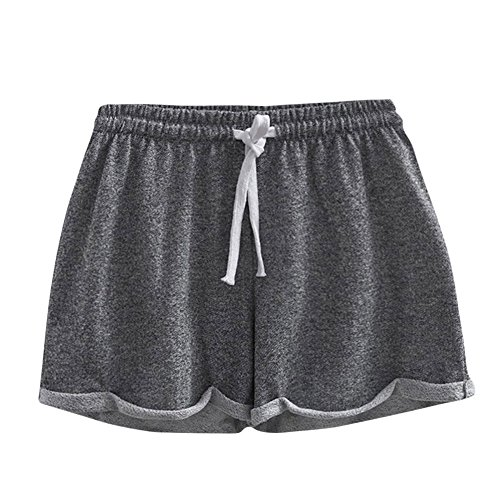 Casual Shorts Women Plus,Women Solid Shorts Causal Sexy Home Short Shorts Pants Women's Fitness Pants,Men's Fashion,Dark Gray,M