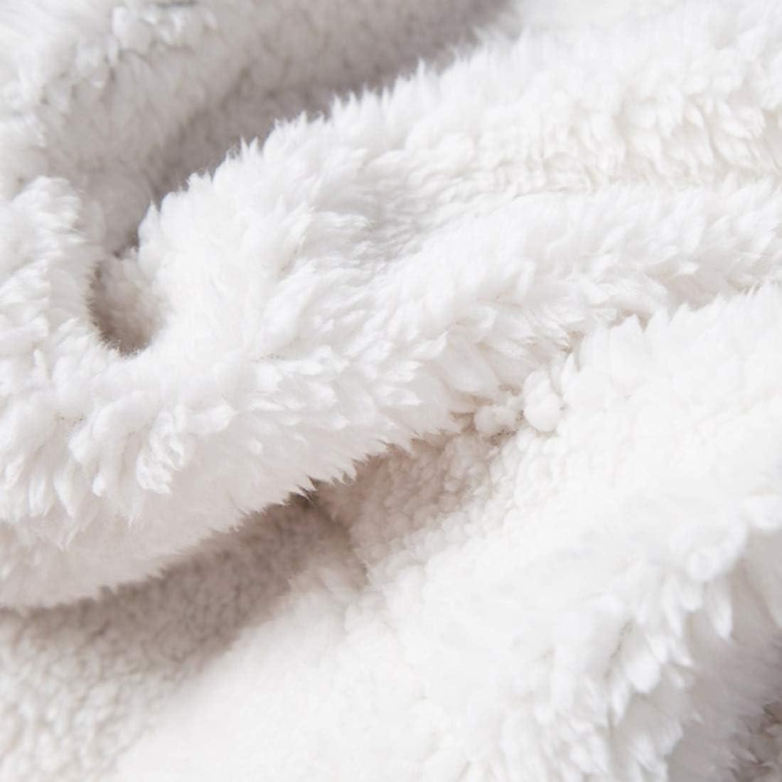 Couverture de Lit ou canap/é R/éversible Double Face Douce et Chaude Plaid Hiver AI Plaid Couverture Polaire Sherpa Rose Clair 150x200cm