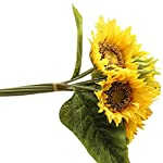 Simulation-Flower-Lotusflower-7-Heads-Artificial-Sunflower-Fake-Floral-Leaves-Wedding-Party-Home-Decor-A