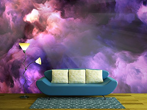 Cheap  wall26 - Surreal, vivid, dark purple and red storm clouds swirl and..