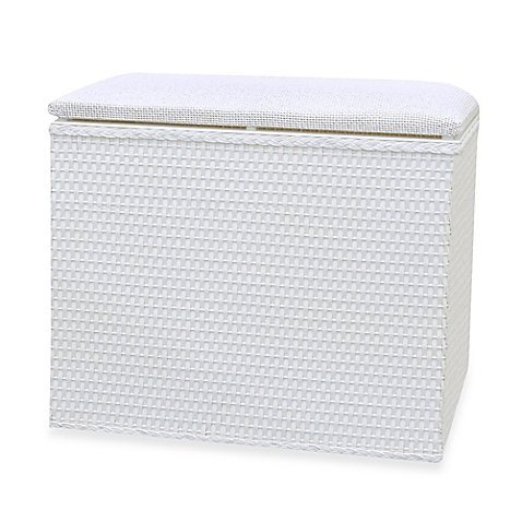 Lamont Home™ Barrington Bench Hamper in White by Lamont Home