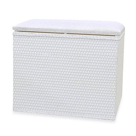 Lamont Home™ Barrington Bench Hamper in White