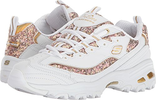 Best buy Skechers D'Lites Fame N Fortune Womens Sneakers White/Gold 8.5