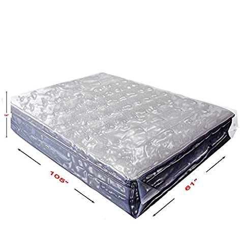 BasiX365 2 Pack Commercial Grade Mattress Bag for Moving, Storage, Bed Bugs Control, and Furniture covering. Heavy Duty 4-Mil Extra Large Queen Size Protector for Pillow Top Mattresses and Furniture