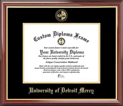 University of Detroit Mercy Titans - Embossed Seal - Mahogany Gold Trim - Diploma Frame ()