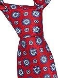 Brioni Men's Red Floral 100% Silk Skinny Neck Tie