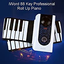 New iWord 88 Key Professional Roll Up Piano With MIDI Keyboard by Toygat