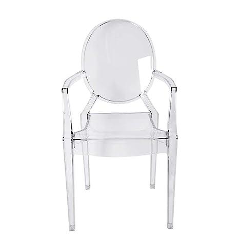 4 Sedie Trasparenti.Panana 4 Sedie Trasparenti Louis Ghost Con Braccioli Stile Moderno Ed Elegante Create Da Philippe Starck