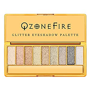 Glitter Sparkly Eyeshadow Palette Ultra Pigmented Eye Shadow Powder 9 Colors Makeup Palette for Mother's Day Wedding Evening Party