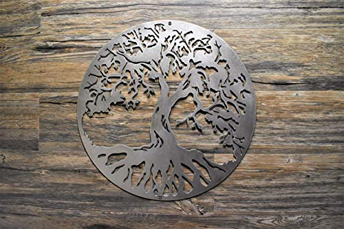 people solid steel metal wall art 35cm present anniversary gift Antique Silver Finish Tree of Life with couple