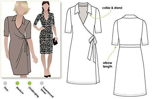 Style Arc Sewing Pattern - Lea Knit Wrap Dress (Sizes 18-30) - Click for Other Sizes Available ()
