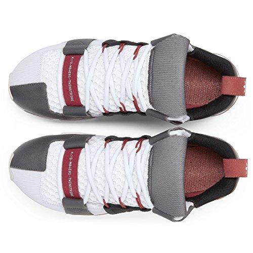 Adidas Mens Twinstrike A / D Laboratorio Bianco / Nero-rosso Tessuto Bianco / Nero Nucleo / Rosso Nucleo