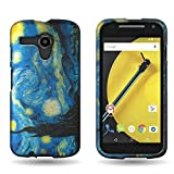 Motorola Moto E Case, CoverON® Hard (Starry Night) Design, [Slim Polycarbonate] [Protective Shell] [Enhanced Grip] Slender Fit Series Phone Cover for Motorola Moto E (2nd Gen, 2015)