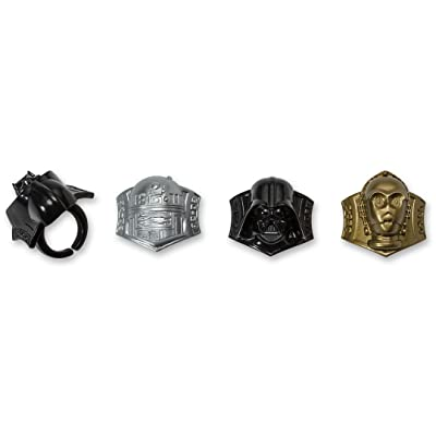 DecoPac Star Wars Darth Vader, C3P0 R2D2 Cupcake Rings, 12 pieces: Toys & Games