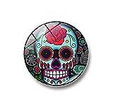 Rumas® Removable 3D Mini Skull Fridge Sticker, Round Shape...