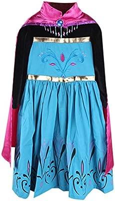 Frbelle® Vestido de Pricesa Disfraz de Ceremonia Cosplay Fiesta Halloween Regalo de Cumpleaños para Niñas 2 3 4 5 6 Años