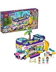 LEGO 41395 Friends Vänskapsbuss Byggsats med Minidockor, Sommar Leksak, Byggsats för Barn 8+ år