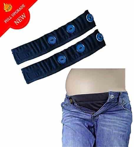 a9cb9f6b96337 Elastic Waist Extenders, Adjustable Waistband Expanders for Men and Women, Jeans  Pants Button Extender