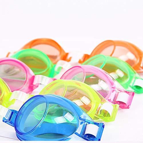 Amarillo Ajustable a Prueba de Viento Impermeable Anti Niebla Dibujos Animados Protecci/ón UV Nataci/ón Gafas Gafas Gafas para ni/ños Ni/ños Adolescentes