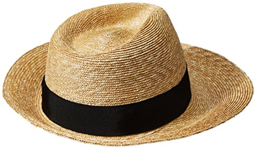 Gottex Women's Charley Fedora Sun Hat w/Asymmetrical Brim, Rated UPF 50+ For Max Sun Protection, Natural/Black, One Size by Gottex (Image #2)