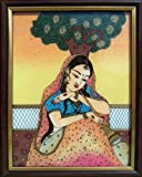 Lady Sitting Under Tree and Playing Shenahai, Art Craft & Handicraft