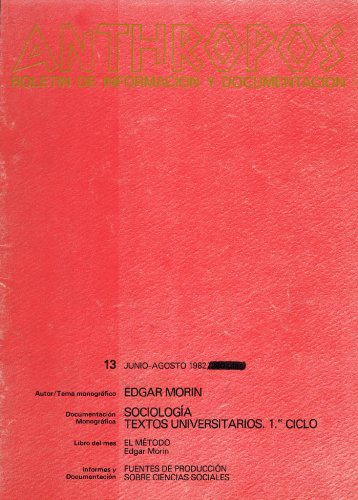 Edgar Morin. Sociología (Spanish Edition)